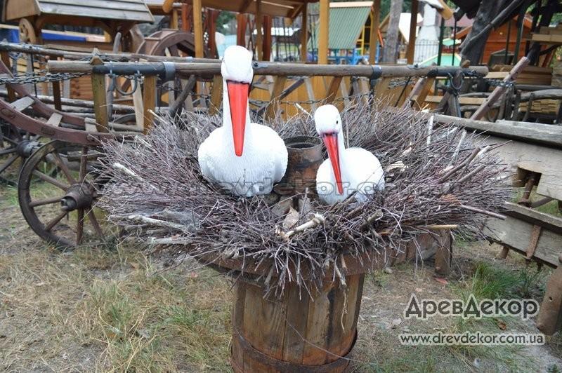 Как сделать гнездо для аиста своими руками декоративного фото