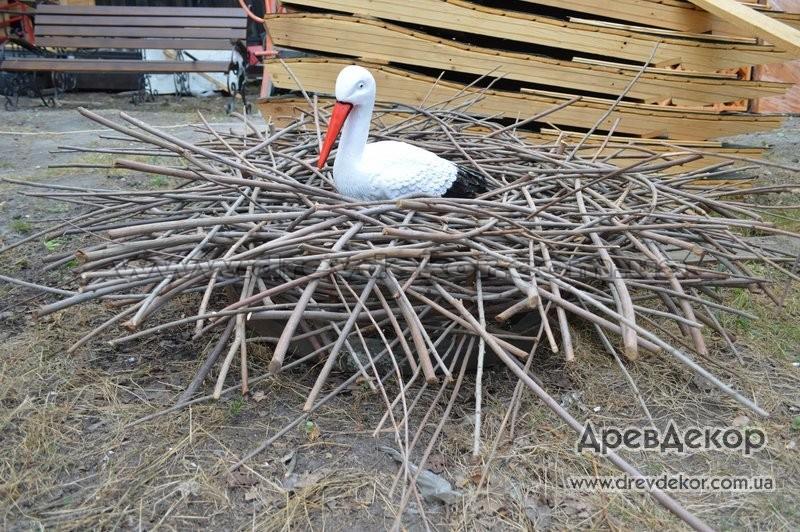 Из чего сделать декоративное гнездо для аиста своими руками - Sort-metall.ru