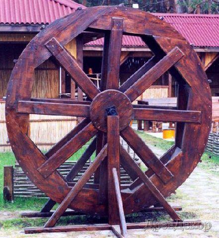 Как сделать колесо мельницы 445