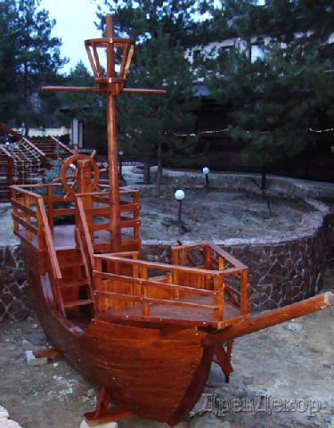 корабль своими руками в сад